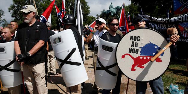 Rechte Demonstranten in Charlottesville