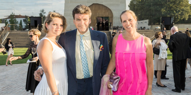 BORDEAUX, FRANCE - JUNE 16:  Baron Benjamin de Rothschild (C), his wife Baroness Ariane de Rothschild and their daughter Noemie attend the dinner of Conseil des Grand Crus Classes of 1855 hosted by Chateau Mouton Rothschild on June 16, 2013 in Pauillac, near Bordeaux, France.  (Photo by Bertrand Rindoff Petroff/Getty Images)