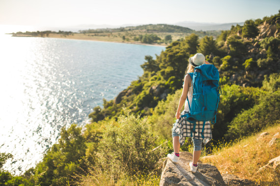 traveling greece hiking