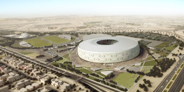 DOHA, QATAR: In this undated computer-generated artists' impression provided by 2022 Supreme Committee for Delivery and Legacy, the Al Thumama Stadium, a Qatar 2022 World Cup venue being built in Doha, Qatar. (Illustration provided by 2022 Supreme Committee for Delivery and Legacy via Getty Images)