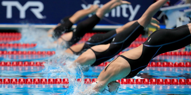 INDIANAPOLIS, IN - JULY 01:  Grace Countie competes in a Women's 50 LC Meter Freestyle heat race during the 2017 Phillips 66 National Championships & World Championship Trials at Indiana University Natatorium on July 1, 2017 in Indianapolis, Indiana.  (Photo by Tom Pennington/Getty Images)