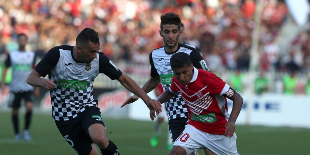 Bedrane Abdelkader (L) of ESS struggle for the ball with FehamBouazza (R) of CRB during final match of Algeria 2017 CR belouizdad against ES setif at the Stage of 5 of July. Algiers on 05/07/2017 (Photo by Billal Bensalem/NurPhoto via Getty Images)