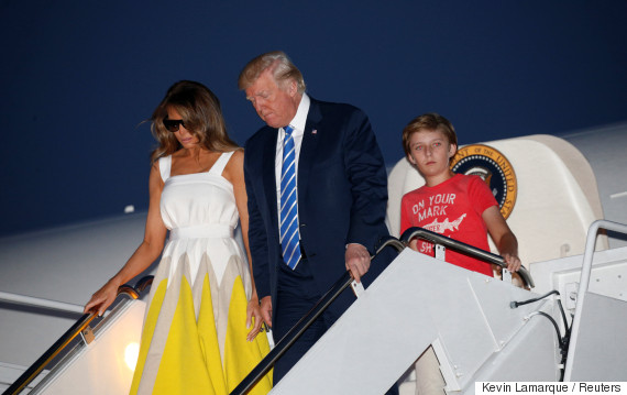 donald trump arrives at joint base andrews