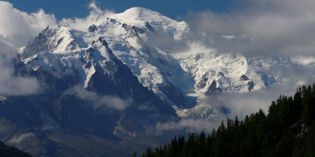 The Mont-Blanc mountain and summit are seen from Emosson, Switzerland August 9, 2017. REUTERS/Denis Balibouse