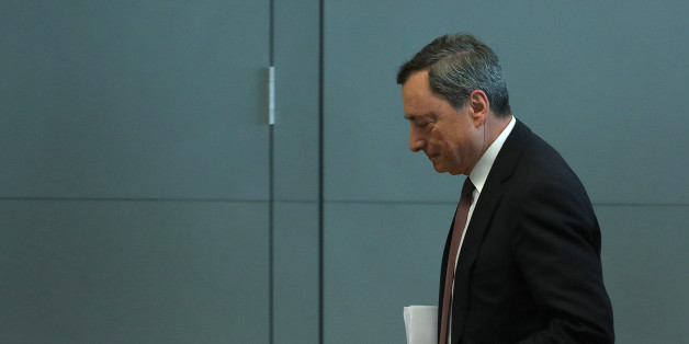 Mario Draghi, president of the European Central Bank (ECB), departs a news conference following the bank's interest rate decision, at the ECB headquarters in Frankfurt, Germany, on Thursday, July 20, 2017. The ECB deferred the delicate decision of how and when to venture the next step toward policy normalization until later this year. Photographer: Krisztian Bocsi/Bloomberg via Getty Images
