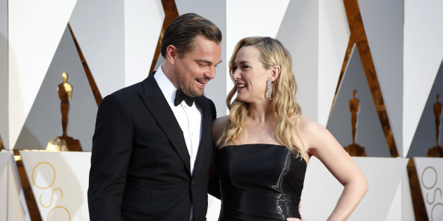 "Kate Winslet, nominated for Best Supporting Actress for her role in ""Steve Jobs,"" and Leonardo DiCaprio, nominated for Best Actor for his role in ""The Revenant,"" arrive at the 88th Academy Awards in Hollywood, California February 28, 2016.    REUTERS/Lucy Nicholson"