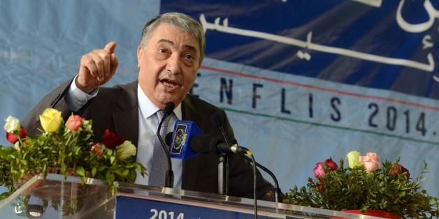 Ali Benflis lors de la campagne de l'élection présidentielle de 2014