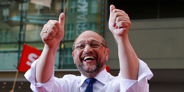 Germany's Social Democratic Party SPD candidate for chancellor Martin Schulz gestures during an election rally in Essen, Germany, August 24, 2017. REUTERS/Thilo Schmuelgen