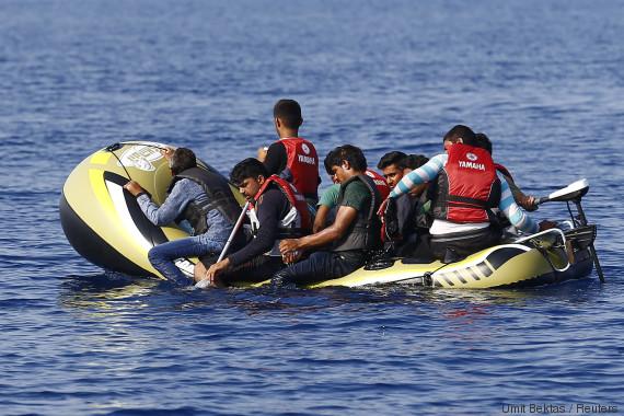 refugees mediterranean water