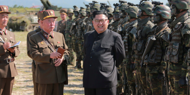 North Korean leader Kim Jong Un guides a target-striking contest of the special operation forces of the Korean People's Army (KPA) to occupy islands in this undated picture provided by KCNA in Pyongyang on August 25, 2017. KCNA via Reuters    ATTENTION EDITORS - THIS IMAGE WAS PROVIDED BY A THIRD PARTY. REUTERS IS UNABLE TO INDEPENDENTLY VERIFY THIS IMAGE. SOUTH KOREA OUT. NO THIRD PARTY SALES. NOT FOR USE BY REUTERS THIRD PARTY DISTRIBUTORS.Ê     TPX IMAGES OF THE DAY