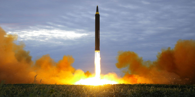 A missile is launched during a long and medium-range ballistic rocket launch drill in this undated photo released by North Korea's Korean Central News Agency (KCNA) in Pyongyang on August 30, 2017.  KCNA/via REUTERS  ATTENTION EDITORS - THIS IMAGE WAS PROVIDED BY A THIRD PARTY. REUTERS IS UNABLE TO INDEPENDENTLY VERIFY THIS IMAGE. SOUTH KOREA OUT. NO THIRD PARTY SALES. NOT FOR USE BY REUTERS THIRD PARTY DISTRIBUTORS.      TPX IMAGES OF THE DAY