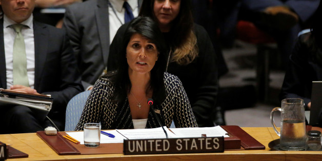 U.S. Ambassador to the United Nations Nikki Haley delivers remarks during a meeting by the United Nations Security Council on North Korea at the U.N. headquarters in New York City, U.S., August 29, 2017.  REUTERS/Andrew Kelly