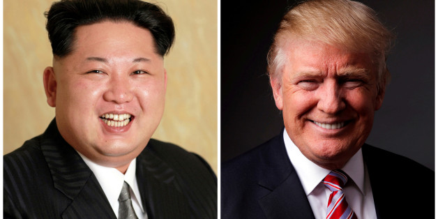 FILE PHOTOS: A combination photo shows a Korean Central News Agency (KCNA) handout of North Korean leader Kim Jong Un released on May 10, 2016, and Republican U.S. presidential candidate Donald Trump posing for a photo after an interview with Reuters in his office in Trump Tower, in the Manhattan borough of New York City, U.S., May 17, 2016. REUTERS/KCNA handout via Reuters/File Photo & REUTERS/Lucas Jackson/File Photo ATTENTION EDITORS - THE KCNA IMAGE WAS PROVIDED BY A THIRD PARTY. EDITORIAL U