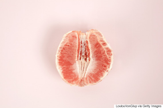 peeled grapefruit