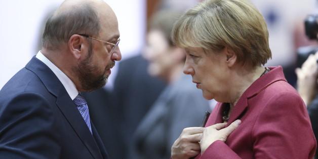 Auf diese Floskeln und Gesten sollten die Zuschauer beim TV-Duell zwischen Angela Merkel und Martin Schulz achten