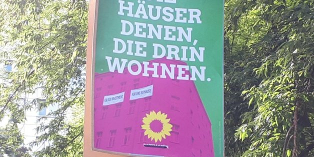 """""""Wohnungseigentümer enteignen?"""" Grüne geraten durch Plakat in Erklärungsnot – und widersprechen sich"""