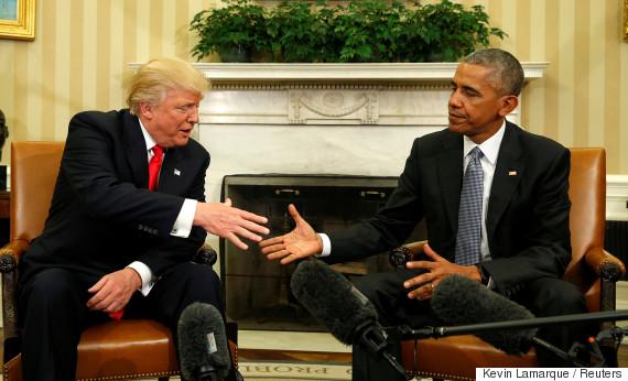 trump obama oval