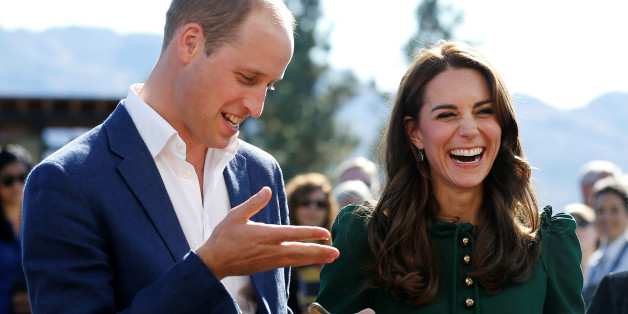 Britain's Prince William and Catherine, Duchess of Cambridge, react while sampling food during the Taste of British Columbia event at Mission Hill winery in Kelowna, British Columbia, Canada, September 27, 2016. REUTERS/Chris Wattie