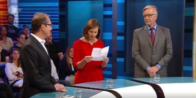 Göring-Eckardt holt beim ZDF-Schlagabtausch plötzlich einen Zettel raus - und stellt Verkehrsminister Dobrindt bloß