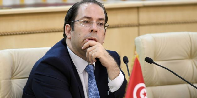 Tunisian Prime Minister Youssef Chahed attends a meeting on security of interior ministers from central Mediterranean countries, on July 24, 2017, in Tunis. / AFP PHOTO / FETHI BELAID        (Photo credit should read FETHI BELAID/AFP/Getty Images)