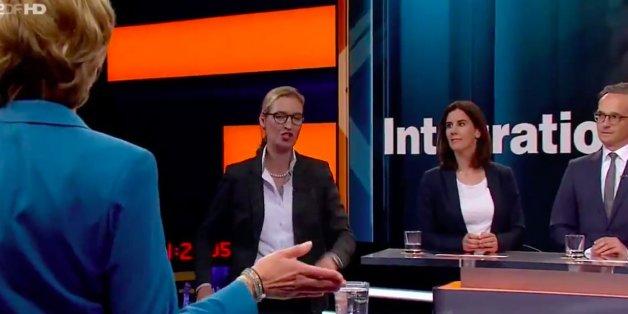 """""""Gerne kann sie auch Deutschland verlassen"""": Politiker spotten über Weidel-Abgang aus Wahlsendung"""