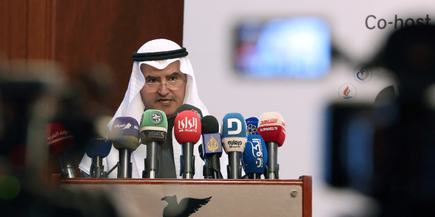 Kuwaiti Minister of Oil, Electricity and Water, Essam Al-Marzouk, gives a speech during the Petroleum Economist GCC Energy Strategy Forum in Kuwait City on January 25, 2017.Oil markets have already begun to rebalance after strong signs that producers are complying with output cuts, Marzouk said. / AFP / Yasser Al-Zayyat        (Photo credit should read YASSER AL-ZAYYAT/AFP/Getty Images)