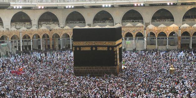 Muslim pilgrims circumambulate the Kaaba, Islam's holiest shrine, at the Grand Mosque in Saudi Arabia's holy city of Mecca on September 3, 2017, during the annual Hajj pilgrimage. / AFP PHOTO / KARIM SAHIB        (Photo credit should read KARIM SAHIB/AFP/Getty Images)