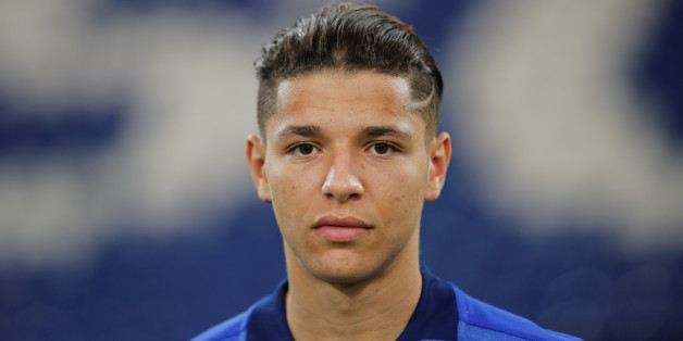Soccer Football - FC Schalke 04 Photocall - Gelsenkirchen, Germany - July 12, 2017   Schalke 04's Amine Harit  during the official team picture at the Veltins Arena   REUTERS/Wolfgang Rattay