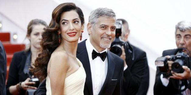 George Clooney mit seiner Frau Amal Alamuddin