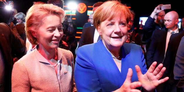 Kanzlerin Angela Merkel nach dem TV-Duell mit Martin Schulz
