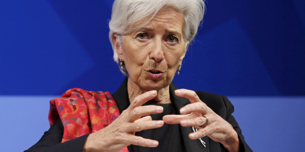 International Monetary Fund (IMF) Managing Director Christine Lagarde speaks at a refugee crisis panel in advance of the IMF/World Bank spring meetings in Washington April 13, 2016. REUTERS/Yuri Gripas/File Photo