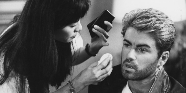 English singer and songwriter George Michael (1963-2016) pictured receiving attention from a make up artist prior to appearing at a press conference during the Japanese/Australasian leg of his Faith World Tour, February-March 1988. (Photo by Michael Putland/Getty Images)