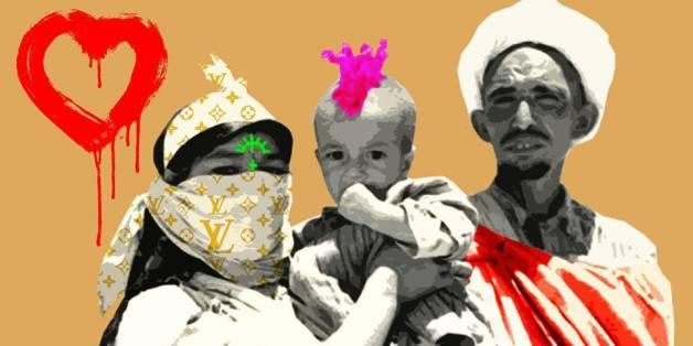 Une oeuvre de l'artiste pop art marocain Mouad Aboulhana.