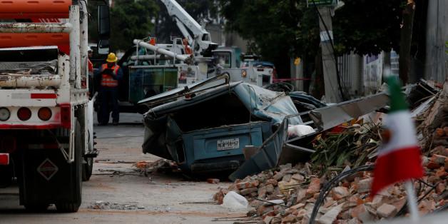 Mexico City après le passage du séisme, 8 septembre 2017.
