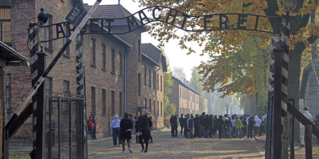 Auschwitz, Poland - 30 October, 2015: people are visiting memorial and museum Auschwitz I, Poland