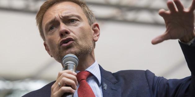 Christian Lindner bei einem Wahlkampfauftritt