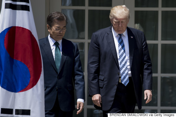 trump korea moon