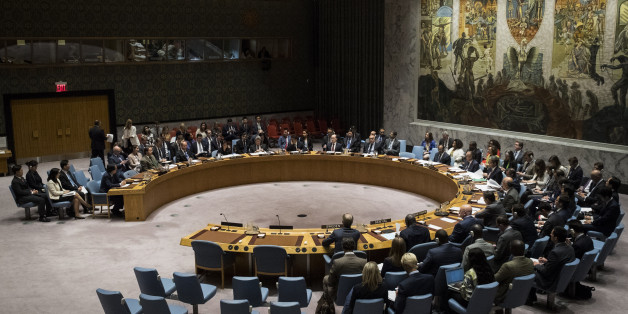 NEW YORK, NY - SEPTEMBER 11: Members of the United Nations Security Council meet concerning North Korea at UN headquarters, September 11, 2017 in New York City. The Security Council unanimously approved new sanctions on North Korea. The United States softened its demands for tougher measures, including removing its demand for a full oil embargo, in a bid to win support from Russia and China. (Photo by Drew Angerer/Getty Images)