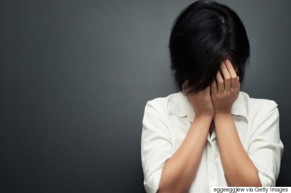 asian woman unhappy