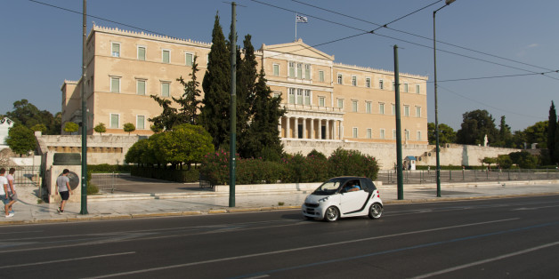 Hellenic Parliament house in Athens, Greece, August 2014