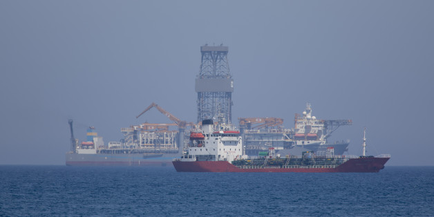 LIMASSOL, CYPRUS - JULY 12: The drillship Pacific Khamsin on July 12, 2017 in Limassol, Cyprus.Total will likely commence exploring for gas in their offshore Block 11 concession in early 2017.Noble Energy received the concession to explore block 12 in October 2008. In August 2011, Noble entered into a production-sharing agreement with the Cypriot government regarding the block's commercial development. The Cyprus A gas field is a Cypriot natural gas field that was discovered in 2011. It will begin production in 2015 and will produce natural gas and condensates. The total proven reserves of the Cyprus A gas field are around 7 trillion cubic feet and production is slated to be around 300 million cubic feet/day. (Photo by Athanasios Gioumpasis/Getty Images)