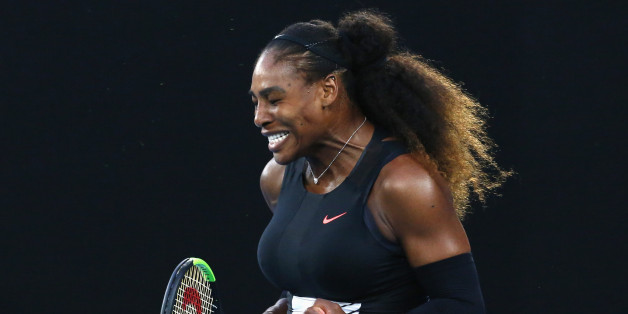 Tennis - Australian Open - Melbourne Park, Melbourne, Australia - 28/1/17 Serena Williams of the U.S. reacts during her Women's singles final match against Venus Williams of the U.S. .REUTERS/Edgar Su