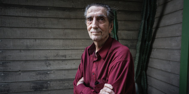 LOS ANGELES, CA - February  23: Actor Harry Dean Stanton stands outside of his home on February 23, 2015 in Los Angeles, California. (Photo by Giles Clarke/Getty Images)