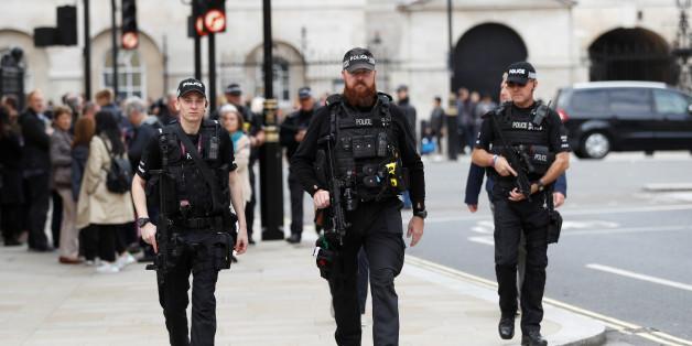 Armed police officers patrol in Westminster, in London, Britain, September 16, 2017. REUTERS/Peter Nicholls