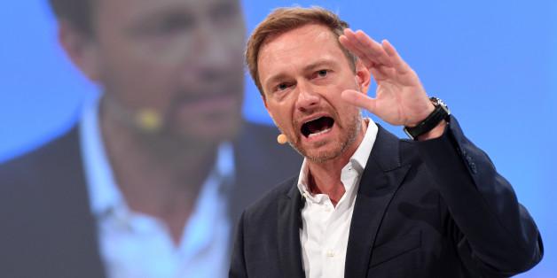 """""""Wir sind ihnen ein halbes Jahr voraus"""": FDP-Chef Lindner teilt am Parteitag gegen die Grünen aus"""