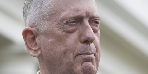 WASHINGTON, DC - SEPTEMBER 03: (AFP OUT) U.S. Secretary of Defense James Mattis makes a statement at the White House on a possible military response to the recent North Korea missile launch, on September 3, 2017 in Washington, DC. (Photo by Chris Kleponis - Pool/Getty Images)