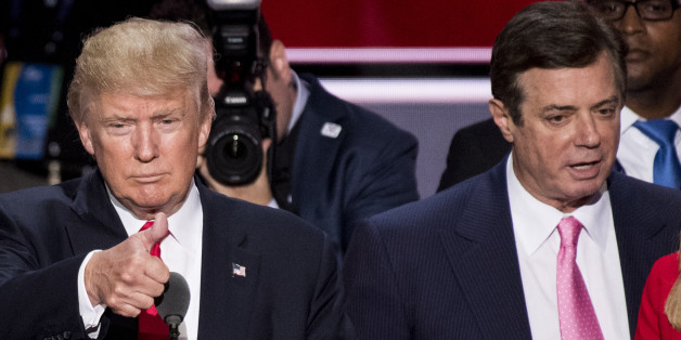 UNITED STATES - JULY 12: GOP nominee Donald Trump, flanked from left by campaign manager Paul Manafort, and daughter Ivanka Trump, checks the podium early Thursday afternoon in preparation for accepting the GOP nomination to be President at the 2016 Republican National Convention in Cleveland, Ohio on Thursday July 21, 2016. (File Photo By Bill Clark/CQ Roll Call)