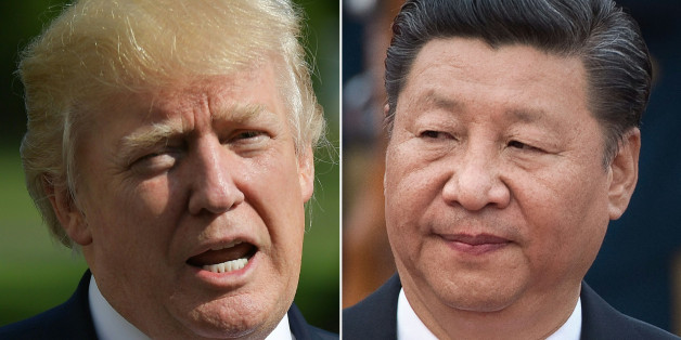 (COMBO) This combination of file photos created on September 18, 2017 shows US President Donald Trump speaking about Hurricane Irma upon in Washington, DC on September 10, 2017 and a photo taken on September 13, 2017 showing Chinese President Xi Jinping during a welcome ceremony outside the Great Hall of the People during a welcome ceremony for Sultan of Brunei Hassanal Bolkiah (not seen) in Beijing.   US President Donald Trump and his Chinese counterpart Xi Jinping committed to 'maximizing pressure on North Korea', the White House said September 18, 2017, amid an escalating crisis over Pyongyang's ballistic and nuclear weapons programs. In a phone call the two men discussed 'North Korea's continued defiance of the international community and its efforts to destabilize Northeast Asia,' the White House said.  / AFP PHOTO / MANDEL NGAN AND NICOLAS ASFOURI        (Photo credit should read MANDEL NGAN,NICOLAS ASFOURI/AFP/Getty Images)