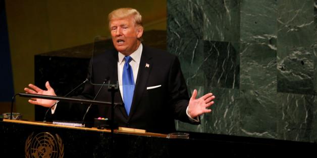 Le président américain Donald Trump prononce un discours lors de la 72e assemblée générale des Nations unies à New York, le 19 septembre 2017.