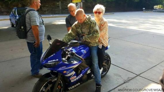 femme motard